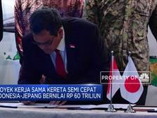 Indonesia-Jepang Teken MoU Kereta Semi-Cepat Jakarta-Surabaya