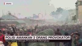 VIDEO: Polisi Amankan 2 Orang Provokator Unjuk Rasa