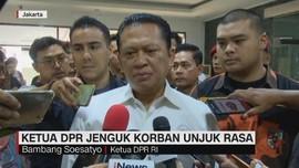 VIDEO: Ketua DPR Jenguk Korban Unjuk Rasa Mahasiswa