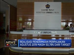 Agustus 2019, Realisasi Penerimaan Pajak Rp 920,2 Triliun
