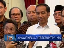 Presiden Jokowi Pertimbangkan Terbitkan Perppu KPK
