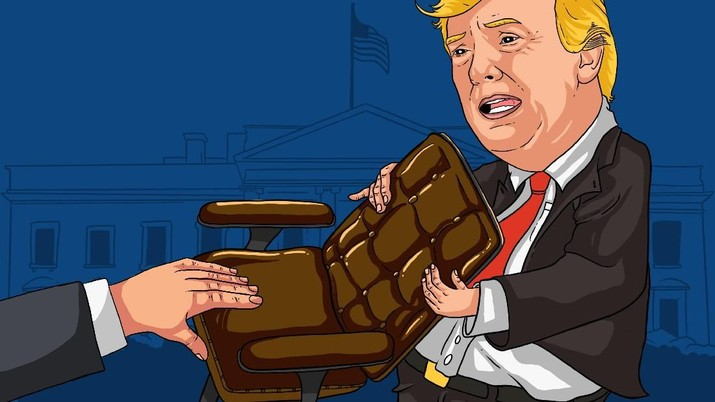 Presiden Amerika Serikat (AS) Donald Trump terancam lengser dari kursi Presiden