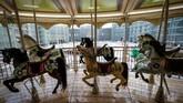 Ide pembangunan taman hiburan dalam ruangan terbesar di Rusia ini dicetuskan oleh Wali Kota Moskow Sergei Sobyanin. (AFP/Yuri Kadobnov)