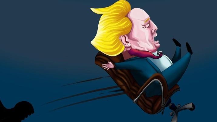 Trump coba dilengserkan dari kursi presiden as