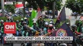 VIDEO: Garda: Broadcast Ojol Demo di DPR Hoaks