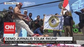 VIDEO: Demo Jurnalis Tolak RKUHP