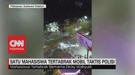 VIDEO: Tertabrak Mobil Taktis Polisi, Mahasiswa Kritis