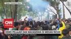 VIDEO: Demo Pelajar dan Mahasiswa di Medan Ricuh