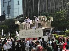 Massa Aksi Mujahid 212 Mulai Menyemut, Serukan Takbir