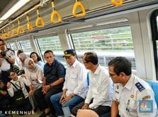 Waduh! Tingkat Keterisian Penumpang LRT Palembang Baru 40%
