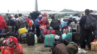 93 Pengungsi dari Sentani Kembali ke Wamena
