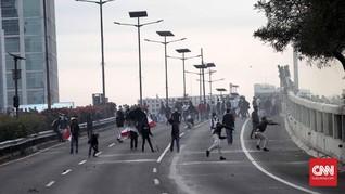 Demo Rusuh, Jalan Tol di Depan DPR Ditutup