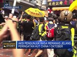 Jelang HUT China, Unjuk Rasa Hong Kong Makin Menggila
