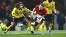 Hasil Liga Inggris: MU vs Arsenal Berakhir Imbang 1-1