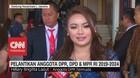 VIDEO: Hillary Lasut, Anggota Termuda DPR Pimpin Pelantikan