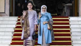 Keakraban Iriana, Mufidah Kalla dan Wury Estu di Pelantikan