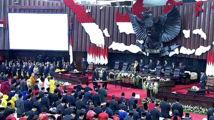 Mengintip Suasana Pelantikan Anggota DPR RI Periode 2019-2024