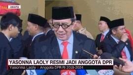 VIDEO: Yasonna Laoly Resmi Jadi Anggota DPR