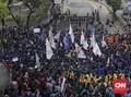 Massa BEM SI Demo Desak Penerbitan Perppu KPK di Patung Kuda