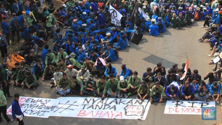 Mahasiswa kembali menggelar demo pada 1 Oktober 2019.
