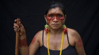 FOTO: Lukisan Tubuh Suku Tembe demi Kehidupan Amazon