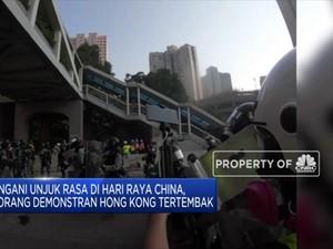 Bentrokan Sengit, Remaja Jadi Korban Tembak Polisi Hong Kong