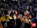 Sesali Insiden Kendari, Mahasiswa Palembang Gelar Nyala Lilin