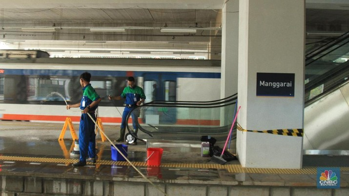 Di Stasiun Manggarai, Jakarta, saat ini sudah tersedia lokasi khusus bagi penumpang KA Bandara.