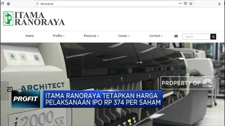 Itama Ranoraya Tetapkan Harga Pelaksanaan IPO Rp 374 Persaham (CNBC Indonesia TV)