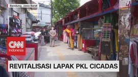 VIDEO: Revitalisasi Lapak PKL Cicadas