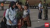 Ketua Ikatan Keluarga Minang Wamena Zulkifli mengatakan, masyarakat Minang sempat mengungsi selama satu minggu markas Komando Distrik Militer (Kodim) 1702 sebelum diterbangkan ke Halim. (CNN Indonesia/Bisma Septalisma)