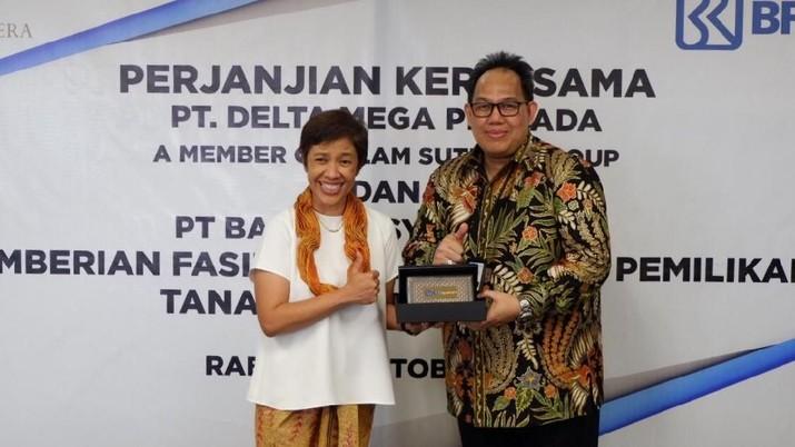 PT Bank BRIsyariah Tbk melakukan penandatanganan kerja sama dengan PT Delta Mega Persada (Alam Sutera Group) dalam rangka penyediaan layanan KPR Syariah