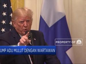 Trump Ribut dengan Wartawan di Depan Presiden Finlandia