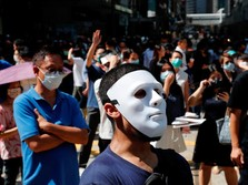 Dilarang Pakai Masker, Pendemo Hong Kong Makin Beringas