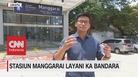 VIDEO: Kini, Stasiun Manggarai Layani KA Bandara