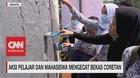 VIDEO: Aksi Pelajar & Mahasiswa Mengecat Bekas Coretan Demo