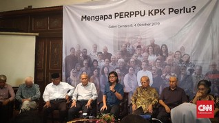 Emil Salim dkk Minta Jokowi Tak Takut Terbitkan Perppu KPK