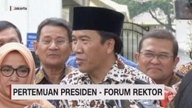 VIDEO: Pertemuan Presiden Bersama Forum Rektor