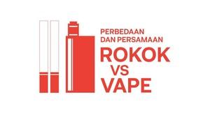 INFOGRAFIS: Perbedaan dan Persamaan Rokok vs Vape