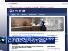 Harga Meroket Tapi Perdagangan Saham Bank Artos Disetop BEI