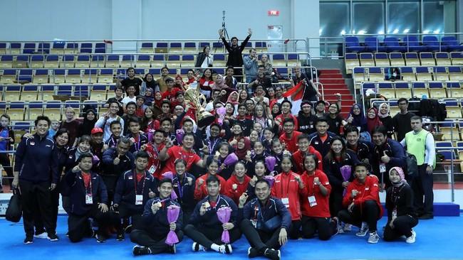 Setelah memenangkan nomor beregu, pemain-pemain Indonesia akan berjuang meraih gelar di nomor perorangan pada Kejuaraan Dunia Badminton Junior. (dok. PBSI)