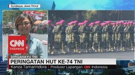 VIDEO: Peringatan HUT Ke-74 TNI di Surabaya