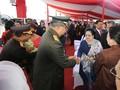 Jumpa SBY di HUT TNI, Megawati Pakai Kebaya Biru