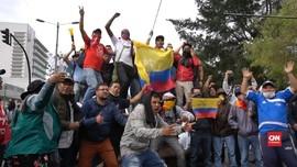 VIDEO: Ekuador Demo, Massa Protes Subsidi Bahan Bakar
