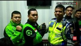 VIDEO: Polisi Penendang Driver Ojol di Bogor Minta Maaf