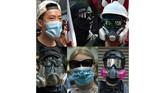 Aturan anyar ini dipercaya akan memberikan efek jera pada para demonstran dan perusuh bertopeng atau masker. (Photos by AFP)