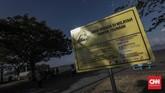 Pantai Boom awalnya pelabuhan, namun kini sedang dikembangkan sebagai pantai wisata dan dermaga kapal pesiar. (CNN Indonesia/Bisma Septalisma)
