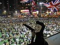 FOTO: Topeng-Topeng dalam Demonstrasi di Hong Kong