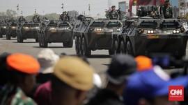 FOTO: Derap Prajurit dan Alutsista di Puncak HUT ke-74 TNI