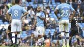 Manchester City kini tertinggal delapan poin dari Liverpool setelah mereka kalah 0-2 dari Wolverhampton Wanderers di markas sendiri. (AP Photo/Rui Vieira)